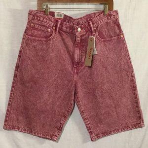 Get your HO HO On Red Washed Denim Shorts